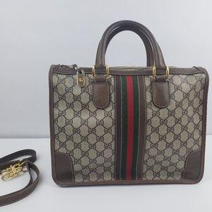 Authentic VTG 70s Gucci Web Stripe GG Monogram